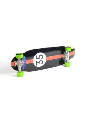 "Skateboard Cruiser TRACKER TRUCKS Pool Cruiser 9.25""x31.75"" - Green Wheels"