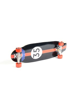 "Skateboard Cruiser TRACKER TRUCKS Pool Cruiser 9.25""x31.75"" - Red Wheels"