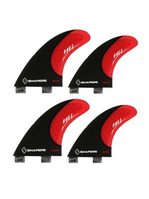 Set de 4 derives SHAPERS Carbon Stealth YU (taille S) (FCS)