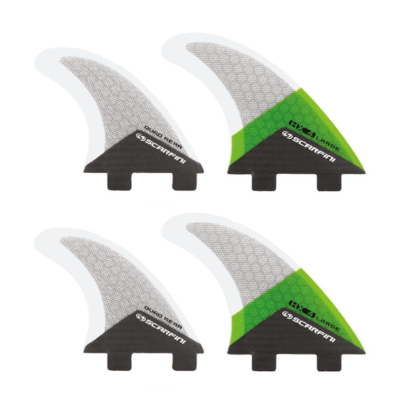 Set de 4 dérives SCARFINI - HX4 Quad Carbon (taille L) (FCS)