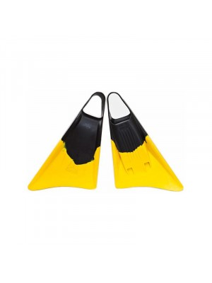 Palmes de Bodysurf et Bodyboard FREEDOM Fins - Black/Yellow