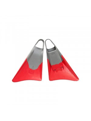 Palmes de Bodysurf et Bodyboard FREEDOM Fins - Grey / Red