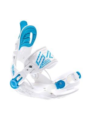 Fixations Snowboard SP FASTEC Kiddo 2018 (entrée arrière) - Blanc/ Bleu