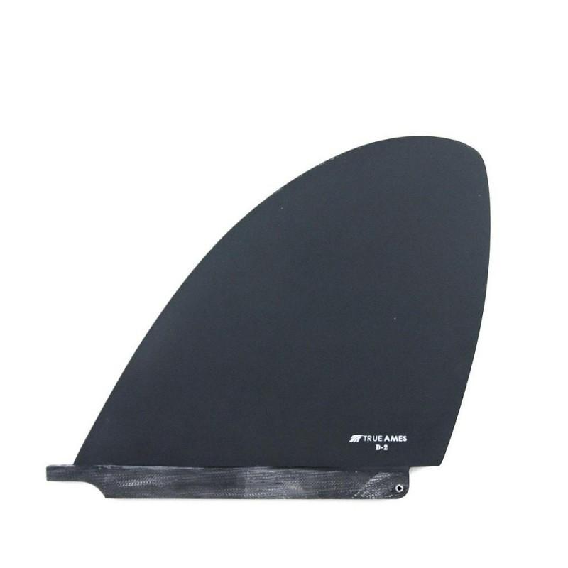 Dérive Longboard Single Fin TRUE AMES D-Fin (D1 / D2) - Noir