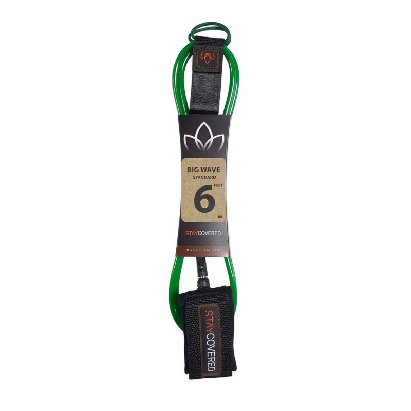 Leash Surf STAY COVERED Big Wave Standard (8mm) - Vert