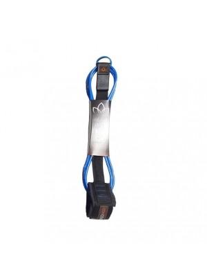 Leash Longboard / Sup STAY COVERED Heavy Duty Hand Tied (8mm) - Bleu