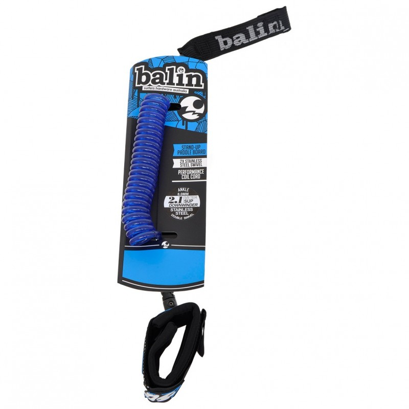 Leash genou Stand Up Paddle BALIN Downwinder Knee (8mm) - Bleu