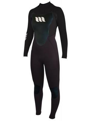 Combinaison de surf femme WEST Nitro Lady 4/3mm back zip - Noir