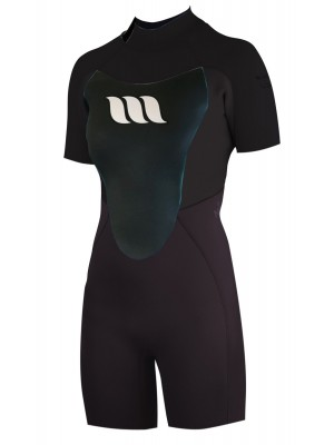 Combinaison de surf femme WEST Nitro Lady Shorty 2/2mm back zip - Noir