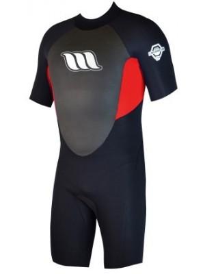 Combinaison de surf Enfant WEST Enforcer Kid Shorty 2/2mm back zip - Rouge