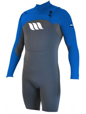 Combinaison de surf WEST Edge Spring Suit manches longues 2/2mm front zip - Bleu