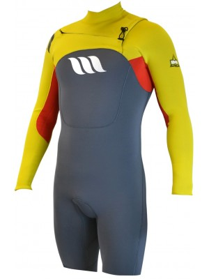 Combinaison de surf WEST Edge Spring Suit manches longues 2/2mm front zip - Citrus