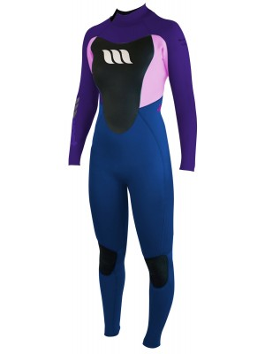 Combinaison de surf femme WEST Nitro Lady 3/2mm back zip - Mulberry