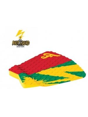 Traction Pad Surf FAMOUS Riot Squad (Kalani David pro model) - Rouge/Jaune/Vert