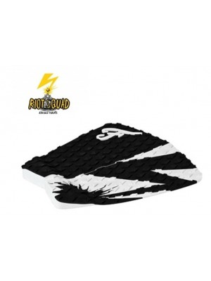 Traction Pad Surf FAMOUS Riot Squad (Kalani David pro model) - Noir/Blanc