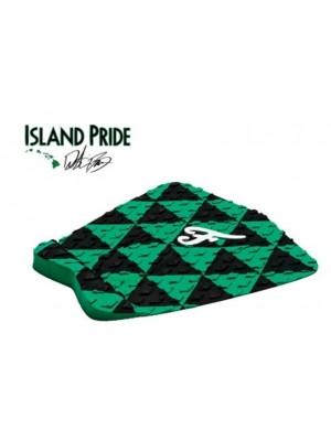 Traction Pad Surf FAMOUS Island Pride - Noir/Vert