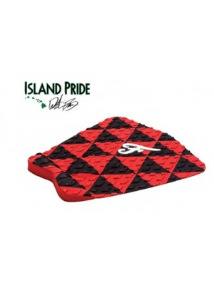 Traction Pad Surf FAMOUS Island Pride - Noir/Rouge