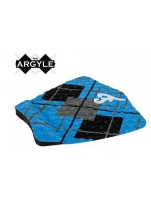 Traction Pad Surf FAMOUS Argyle - Bleu/Noir/Charcoal