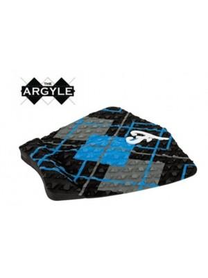 Traction Pad Surf FAMOUS Argyle - Noir/Bleu/Charcoal