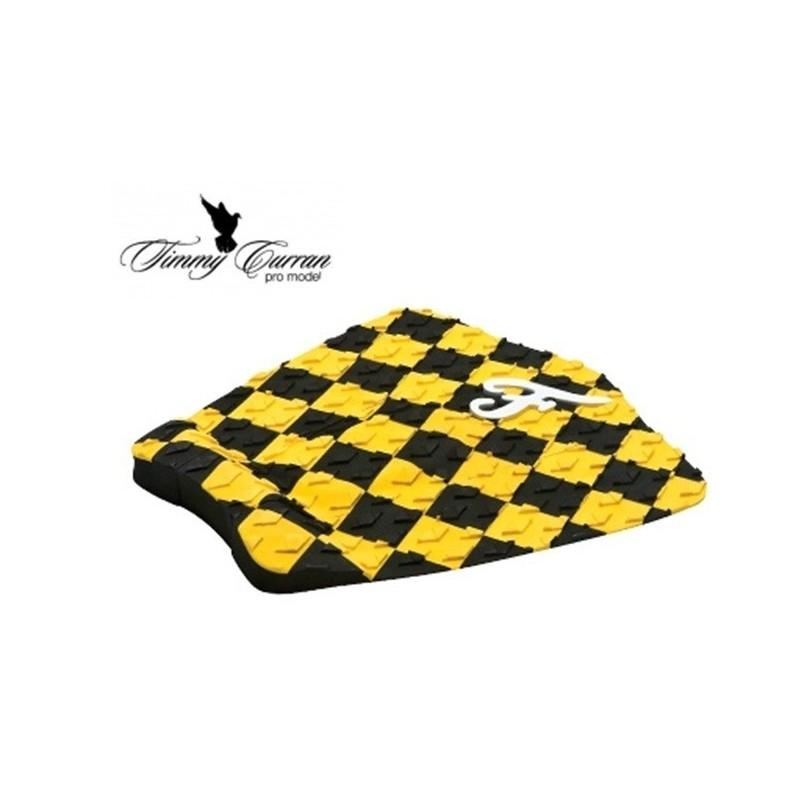 Traction Pad Surf FAMOUS Timmy Curran Pro Model - Noir/Jaune