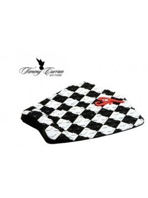 Traction Pad Surf FAMOUS Timmy Curran Pro Model - Blanc/Noir