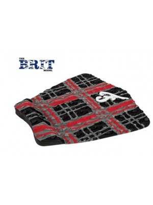 Traction Pad Surf FAMOUS Brit - Noir/Rouge/Charcoal