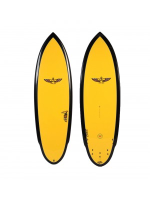 Planche de Surf BOARDWORKS Von Sol Shadow yellow/black (epoxy)