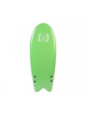 Planche de Surf Ecole Softboard VICTORY EPS Mousse Fish 6'6 - Vert