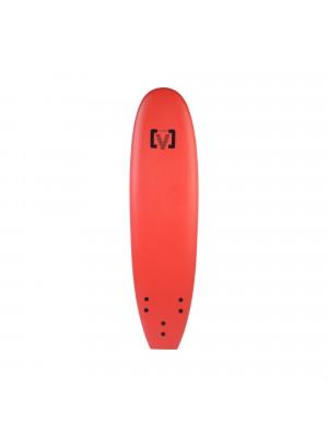 Planche de Surf Ecole Softboard VICTORY EPS Mousse 7' Rouge