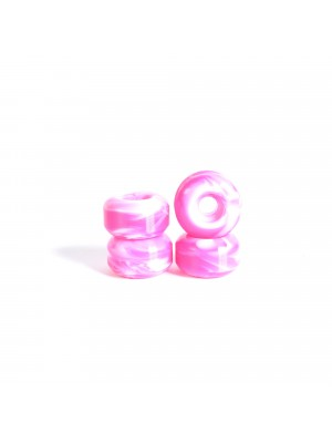 Roues skateboard - YOCAHER 52x31mm 99a - Swirl White/Pink