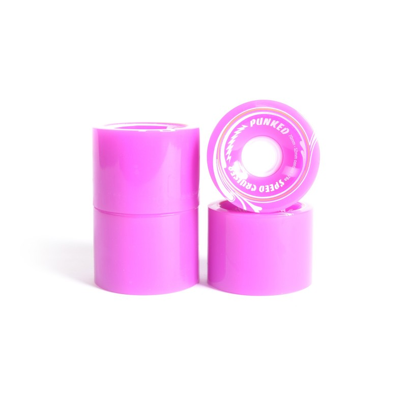 Roues skateboard - YOCAHER 70x52mm 78a - Purple