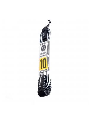 Leash cheville Longboard SHAPERS Long Ankle (10mm) - Noir/Blanc