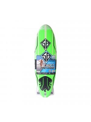 Planche de Surf - Softboard CBC 7'0 - Lime Green/ Wood