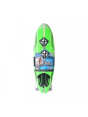 Planche de Surf - Softboard CBC 7'0 - Lime Green/ Wood