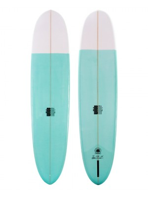 Longboard WILDE SHAPES - Admiral Bell Pin 9'4 - White / Green (PU)