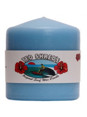 Bougie TED SHRED'S Original Surf Wax Candle Pillars - Bleu