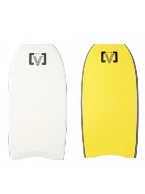 Planche de Bodyboard VICTORY H (PE) - Blanc/Jaune