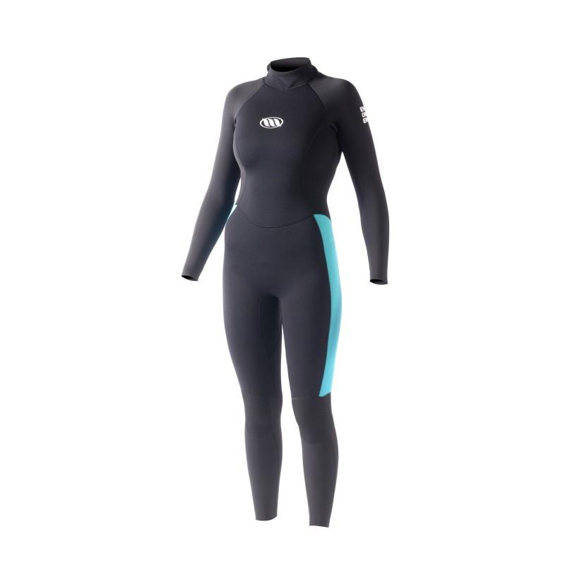 Combinaison de surf WEST Enforcer Girl 3/2mm back zip - Black/ Blue