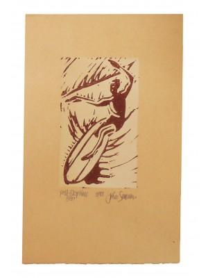 Original Block Print JOHN SEVERSON 'Phil DropKnee'