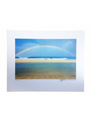Poster Photo Surf The JEFF DIVINE Collection No 1 'Banzai Pipeline Rainbow 1979'