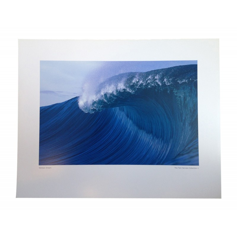 Poster Photo Surf The TOM SERVAIS Collection No 2 'Tahitian Dream'