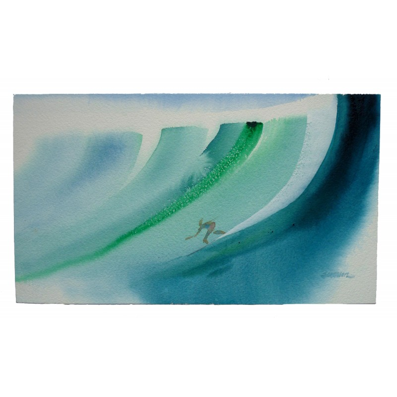 Aquarelle JOHN SEVERSON 'Impressionist Stoke' original watercolor