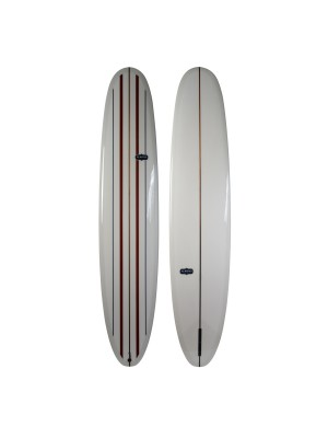 Longboard ALMOND Surf Thump 9'4 (PU) - Light Grey/ Stripes