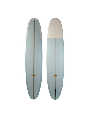 Longboard ALMOND Longview 9'2 (PU) - Light Blue/ White nose