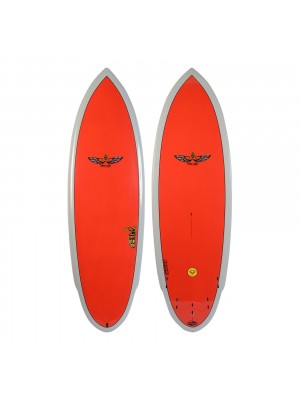 Planche de Surf BOARDWORKS Von Sol Shadow grey/red (epoxy)