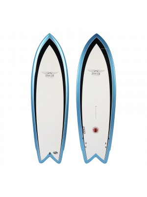 Planche de Surf BOARDWORKS Hynson Black Knight quad white/blue (epoxy)