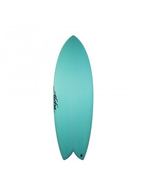 Aloha Surfboards - Keel Twin PU Aqua - 5'6 - FCS 2
