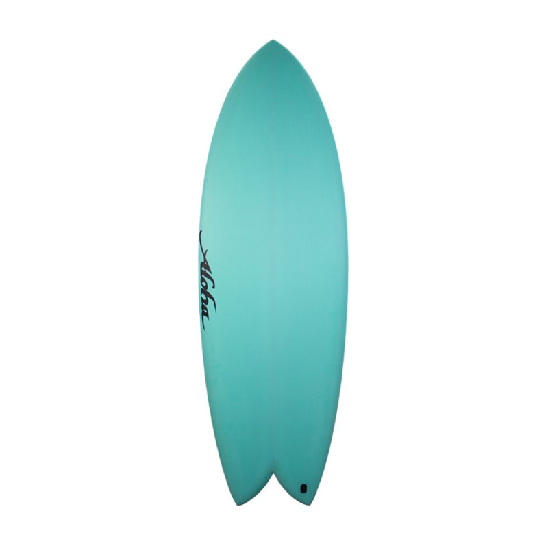 Aloha Surfboards - Keel Twin PU Aqua - 6'0 - FCS 2