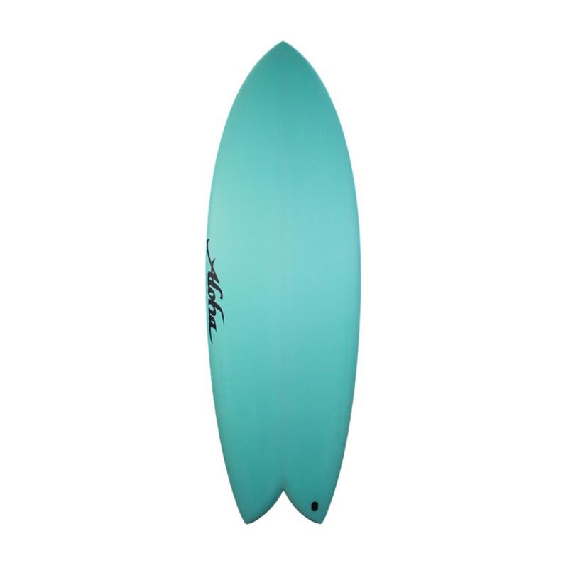 Aloha Surfboards - Keel Twin PU Aqua - 5'10 - FCS 2