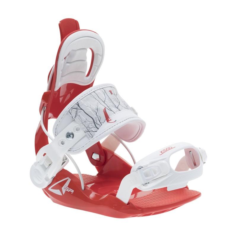 Fixations Snowboard SP FASTEC Kiddo 2020 (entrée arrière) - Red